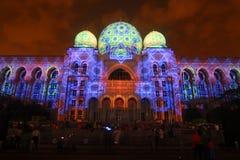 吉隆坡:布城(LAMPU)的光和行动在布城从12月12日到12月14日2014吸引了一千人 免版税库存图片