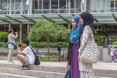 吉隆坡-2015年3月01日:采取pictur的Underfined游人 图库摄影