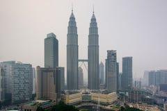 吉隆坡阴霾 免版税库存照片