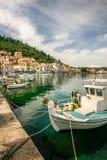 吉雄捕鱼港口,拉哥尼亚的,希腊 免版税库存图片