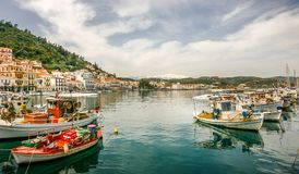 吉雄捕鱼港口,拉哥尼亚的,希腊 库存照片