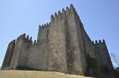 吉马朗伊什城堡看法  库存照片