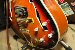 吉他串起特写镜头 免版税图库摄影