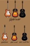 吉他传染媒介 图库摄影