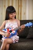 吉他使用 免版税图库摄影
