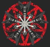 吉他和五角星形设计 免版税库存图片