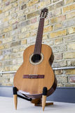 吉他和砖墙- 1 免版税图库摄影