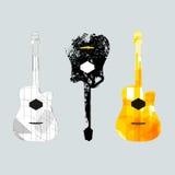 吉他图表art1 免版税库存照片