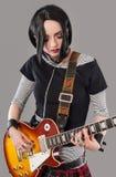 吉他女孩 免版税库存照片