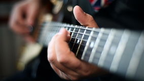 吉他弹奏者使用 股票视频