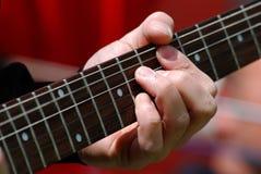 吉他弹奏者戏剧 库存图片