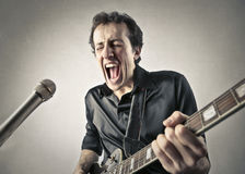 吉他弹奏者 免版税库存图片