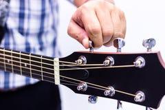 吉他维护 库存图片