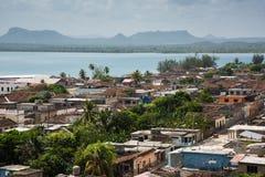 吉巴拉古巴传统殖民地村庄奥尔金省的 图库摄影