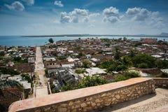 吉巴拉古巴传统殖民地村庄奥尔金省的 库存照片