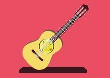 吉他时钟 免版税图库摄影
