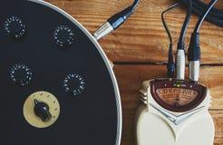 吉他条频器 免版税库存照片
