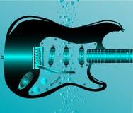 吉他淹没了 免版税库存图片
