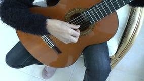 吉他演奏员 股票视频