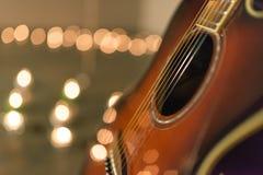 吉他特写镜头 图库摄影