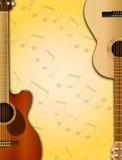 吉他背景 图库摄影
