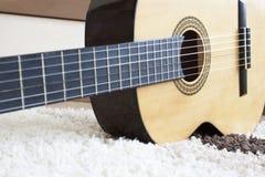 吉他身体图象 免版税图库摄影