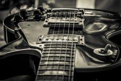 吉他闪电震动 库存照片
