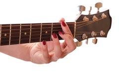 吉他雕 库存照片
