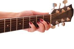 吉他雕 图库摄影