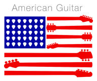 从吉他零件做的一面美国国旗 免版税库存照片