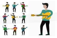 吉他音乐家使用 免版税库存图片