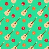 吉他音乐笔记平的设计样式传染媒介 免版税库存图片