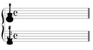 吉他音乐 免版税库存图片