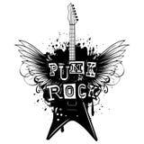吉他飞过低劣rock_var 2 免版税图库摄影