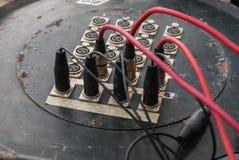 吉他amp和起重器 库存照片