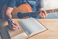吉他composion 免版税库存图片