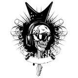 吉他skull_var 9 免版税库存照片
