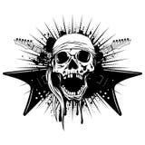 吉他skull_var 2 库存照片