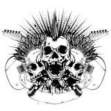 吉他skull_var 24 库存照片