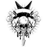吉他skull_var 13 免版税图库摄影