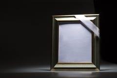 吊唁卡片的空白的哀悼的框架 图库摄影