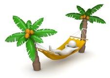 吊床位于的旅行 免版税库存照片