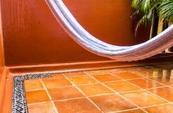 吊床在雨中 免版税图库摄影