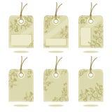 吊标签设计要素 免版税库存照片