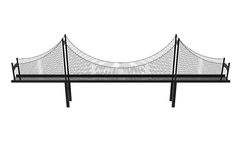 吊桥例证 免版税库存图片