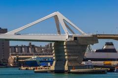 吊桥在巴塞罗那 库存图片