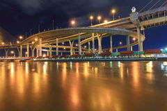 吊桥曲线  免版税图库摄影
