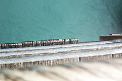 吊桥边缘 库存照片