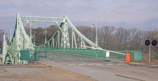 吊桥,拉脱维亚 库存照片
