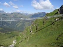 吊桥, Stubnerkogel,坏Gastein,奥地利 免版税图库摄影